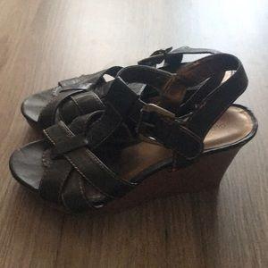 """Dark brown wedge heel 3.5"""""""